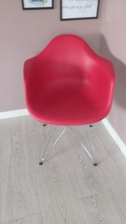 Skandynawskie krzesło MILANO czerwone