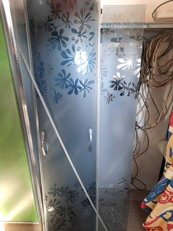 Prysznic szyby przysznica szyba ramka brodzik komplet.