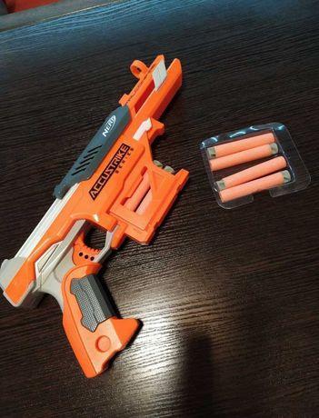 Детская игрушка автомат со стрелами бу бластер Accustrike series
