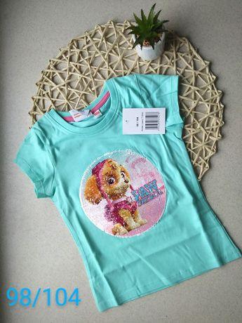 Psi Patrol t-shirt odwracane cekiny 98/104