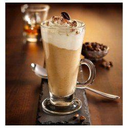Zestaw 6 wysokich szklanek z uchem 250 ml do kawy latte