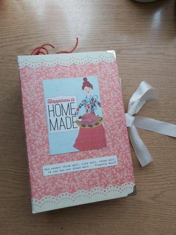 Przepiśnik handmade. Scrapbooking, notes, journal, ręcznie robiony