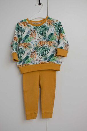 Komplet bluza+leginsy, rozmiar 74, stan jak nowy