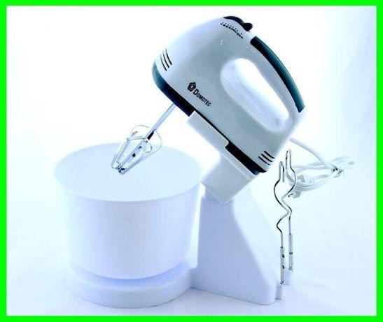 Ручной миксер с чашей Domotec MS-1366, 7 скоростей, 200 ВТ