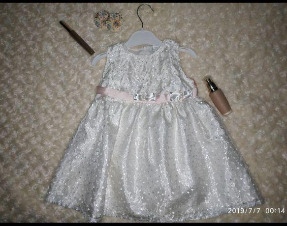 Стильное фирменное платье или для новогодний костюм Снежинка