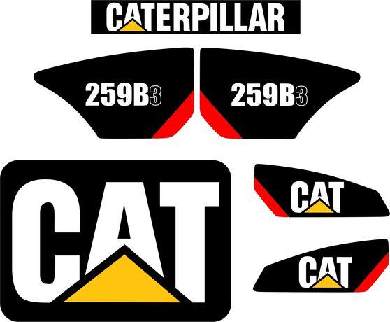 naklejki cat 259b3 caterpillar koparko ładowarka