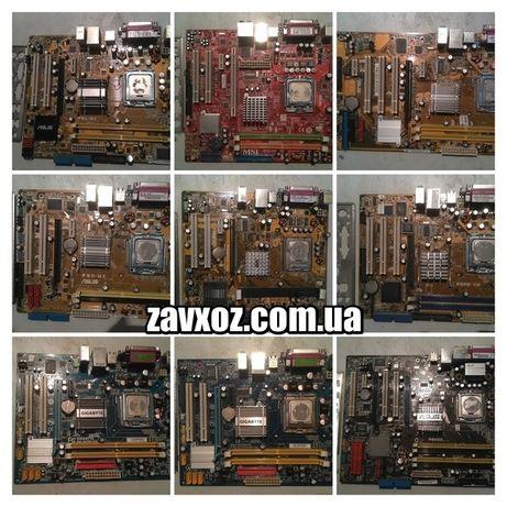Материнские платы socket сокет 775 под DDR1 DDR2 DDR3