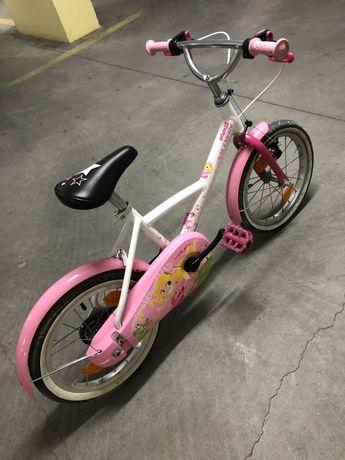 """Bicicleta 500 Menina Princess 16"""" 4,5-6 anos BTWIN"""
