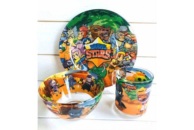 Набор детской посуды (Большой ассортимент мульт.героев)