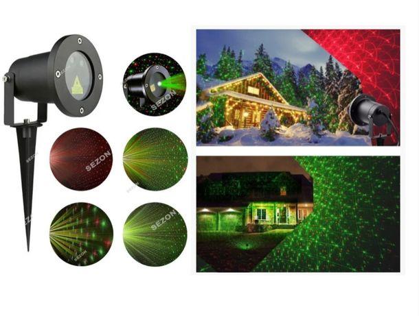 Лазерний проектор вуличний метал. STAR SHOWER КРАПКИ 2 кольори + пуль