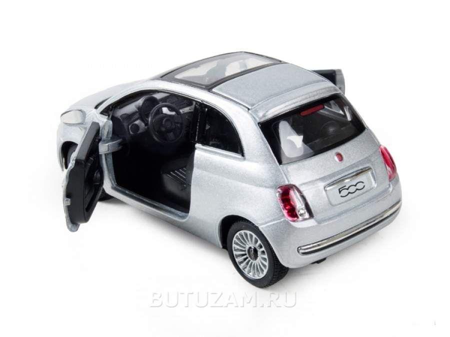 Машинка Kinsmart Fiat 500 серебристого цвета Киев - изображение 1