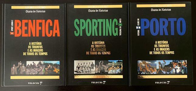 Coleção Livros de Ouro Benfica Sporting Porto