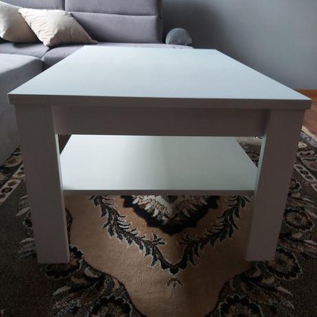 Stolik biały z półką