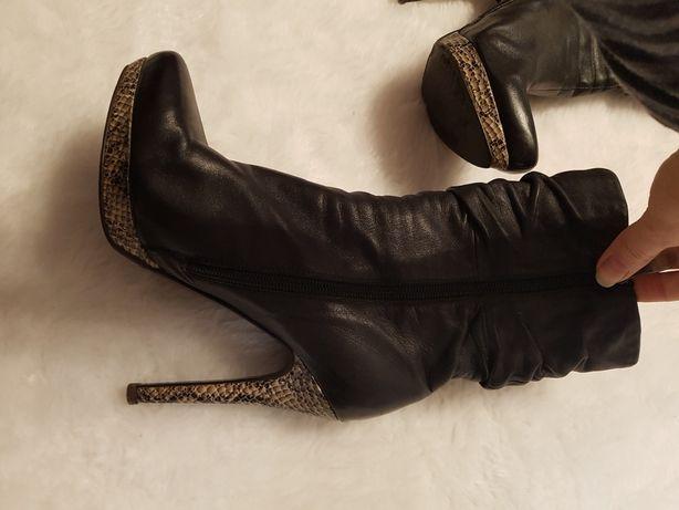 Сапожки ботильоны ботинки кожа