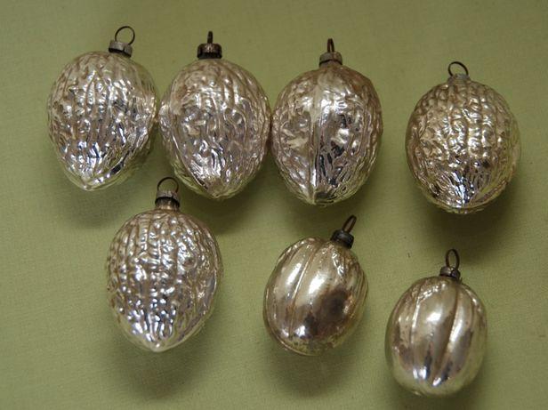 7 stare niemieckie szklane bombki choinkowe Lauscha Thuringen orzech m