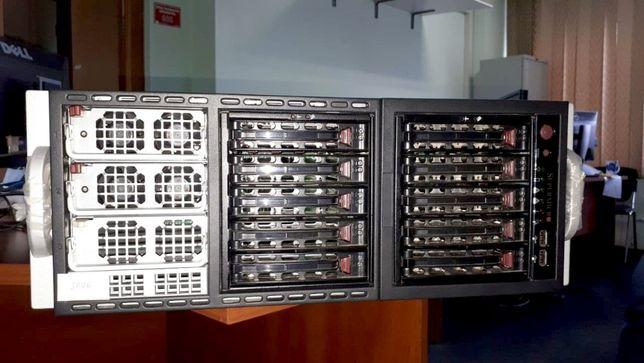Сервер Supermicro X8QB6:4х Xeon Е7-4850 10-core,256 GB DDR3,1200W 2шт