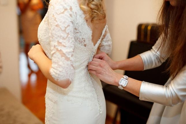 Suknia ślubna koronkowa Pronovias Bellamy