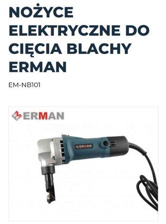 Elektryczne nożyce skokowe do ciecia blachy firmy Erman model EM-NB101