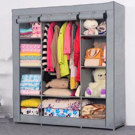Складной каркасный тканевый шкаф Storage Wardrobe 88130, шкаф на три с