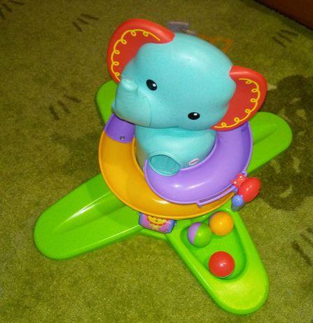 Brinquedo interativo fisherprice com musica e bolas