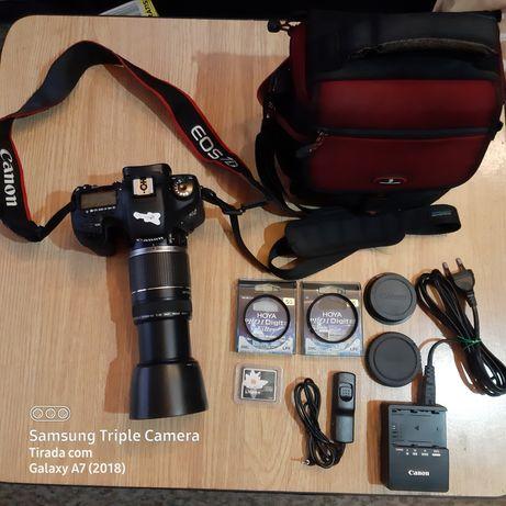 CANON EOS 7D + Canon EF-S 55/250mm 4.5/5.6 e acessórios