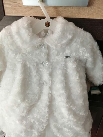 Płaszczyk biały rozmiar 74