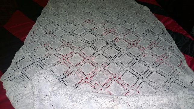 Colcha cama de solteiro em crochet