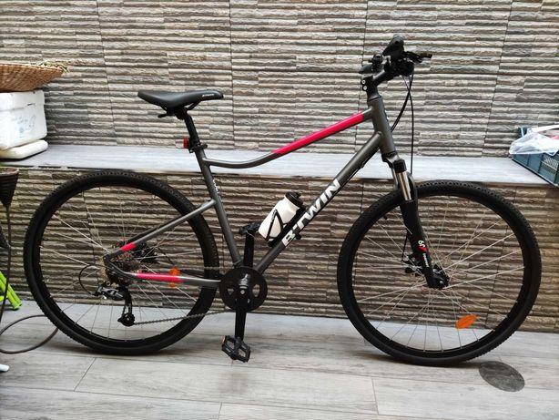 (Nova) Bicicleta Trekking Riverside 500 Cinza/vermelho