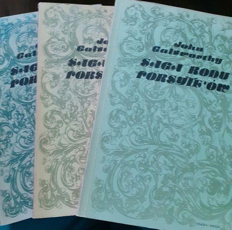 """NOWA""""Saga rodu Forsyte'ów"""" i inne •Komplet 7 książek-John Galsworthy"""