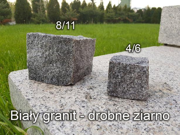 Kostka granitowa, Biały granit, kamienna kostka - 8/11, kostka brukowa