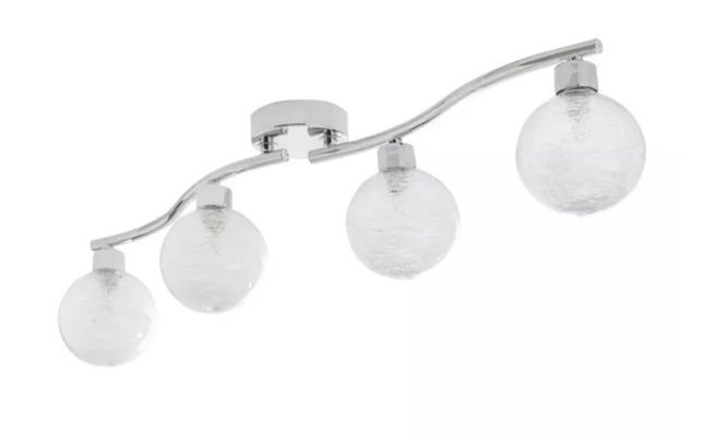 listwa spot lampa sufitowa żyrandol szkło metal