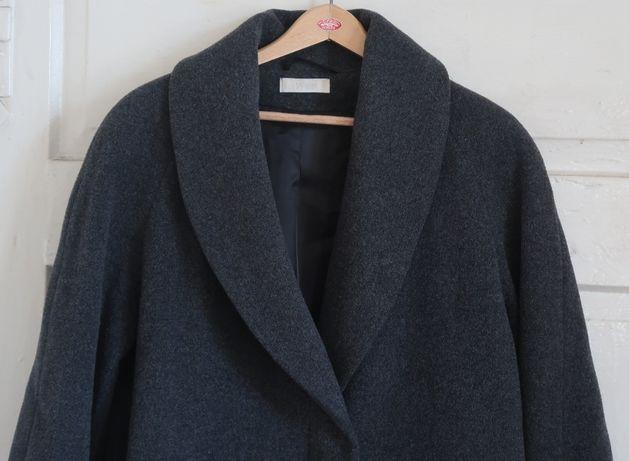 płaszcz damski -marks & spencer, wełniany długi , szary, rozmiar 12