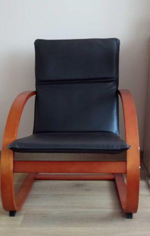 Fotel wypoczynkowy ekoskóra