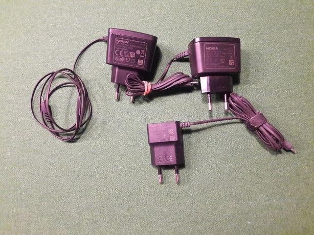 Ładowarka, zasilacz Nokia 5V, 800mA, 350mA (3szt)
