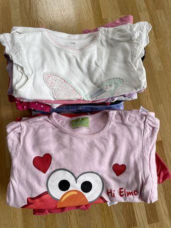 Zestaw 22szt ubranek dla dziewczynki rozmiar 74
