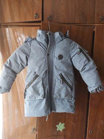 ТЕРМОКУРТКА  детская зимняя тёплая удлинённая филипп плейн