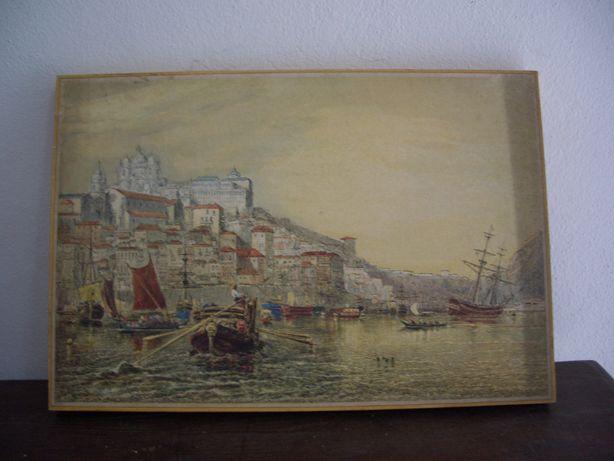 Quadro em madeira - Cidade do Porto