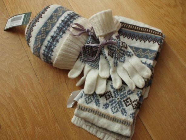 Zestaw Komplet zimowy czapka i szalik rękawiczki Cocodrillo