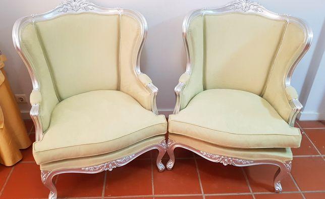 Duas poltronas bergerés Luis XV