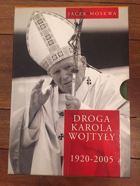 4 tomowa kolekcja Droga Karola Wojtyły. Autor Jacek Moskwa.