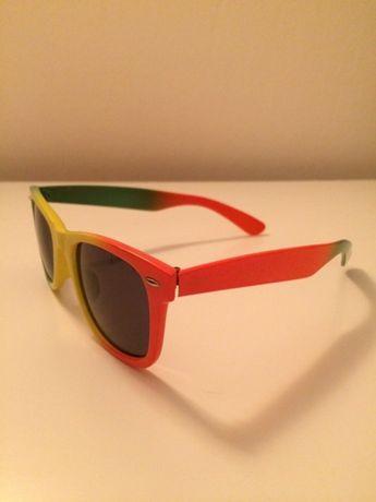 Kolorowe okulary przeciwsłoneczne