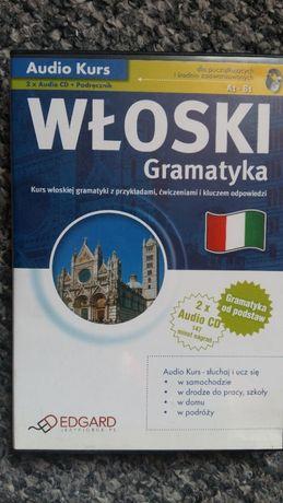 Włoski Gramatyka (A1-B1), Edgard, 2 płyty + podręcznik z kluczem