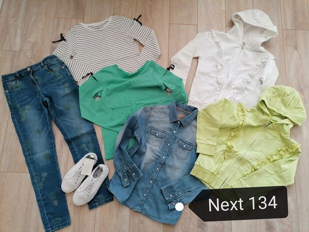 Next 134 bluzki bluzy jeansy