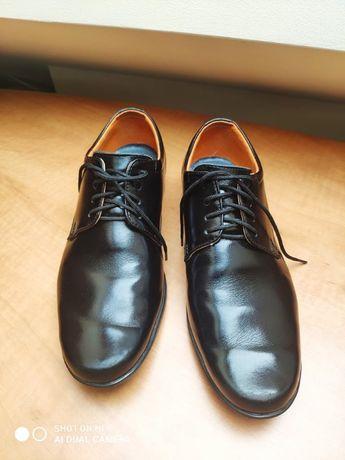 Eleganckie buty na komunię komunijne Bartek rozmiar 34 czarne