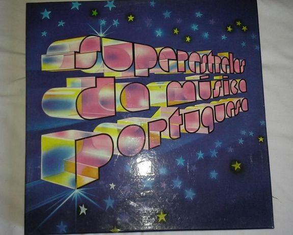 Caixa de discos vinil de musica tradicional portuguesa