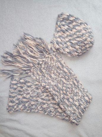 Ciepła czapka i szalik