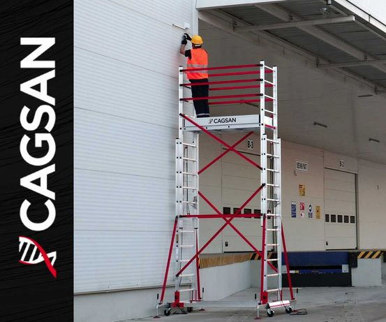 RUSZTOWANIE Aluminiowe jezdne Briks Cagsan TeleSafe 4m 5m 6m 7m 8m