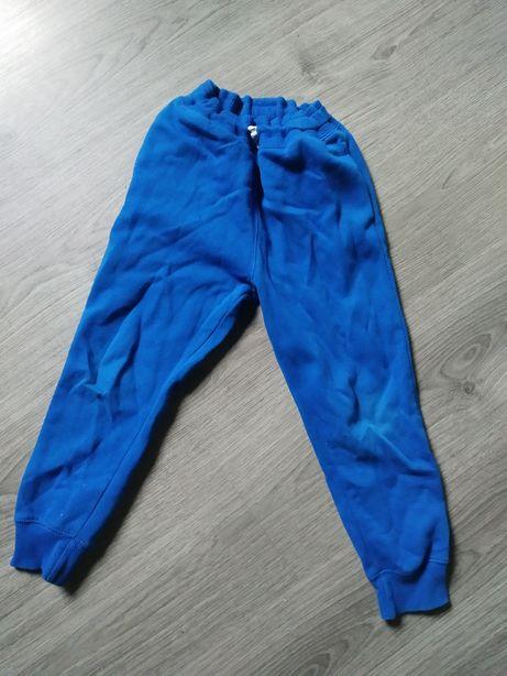 Spodnie niebieskie dres H&M 116