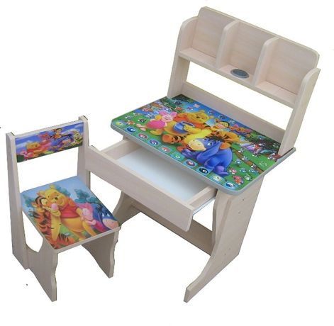Акция-за комплект Детская парта-стол растишка Винни пух