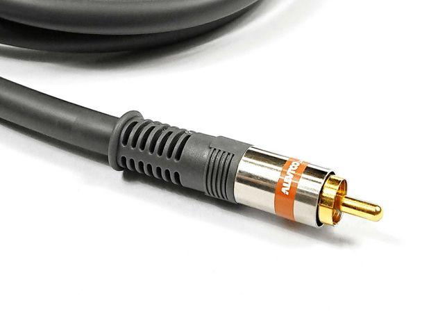 Kabel przewód przyłącze coaxial / CINCH 1m złocone VITALCO - 2 sztuki.